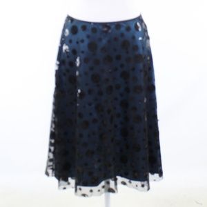 Dark blue black  ADRIANNA PAPELL A-line skirt 6